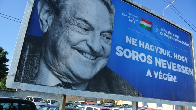 afis anti-Soros in Ungaria