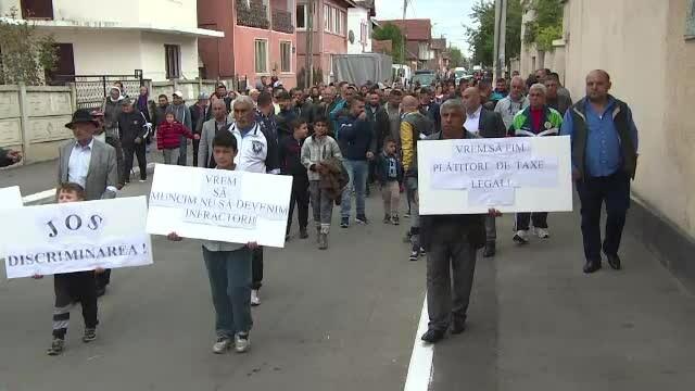 protest Targu Jiu