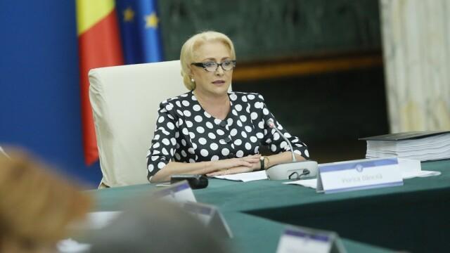 Viorica Dancila conduce sedinta de guvern, miercuri, 5 septembrie 2018
