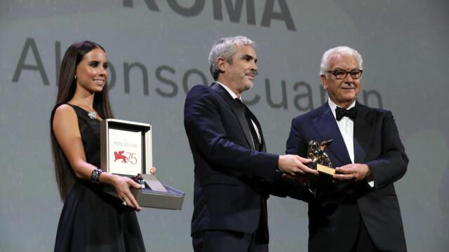 """Festivalul de film de la Veneția. Filmul """"Roma"""", de Alfonso Cuarón, a primit Leul de Aur."""