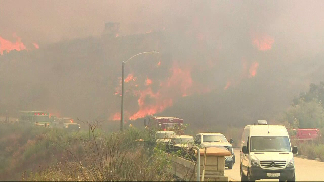 incendiu in California