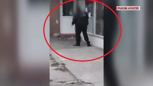 Polițist filmat abia ținându-se pe picioare. Ce voia să facă în Autogara din Constanța