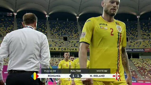 România - Irlanda de Nord, 1-1. Tricolorii ratează dramatic victoria în primul meci din noua ediție a Ligii Națiunilor - Imaginea 9