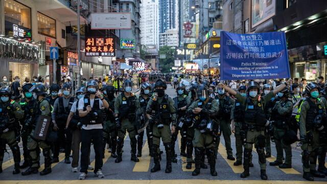 VIDEO. Proteste violente la Hong Kong. Aproape 300 de oameni au fost arestați - Imaginea 2