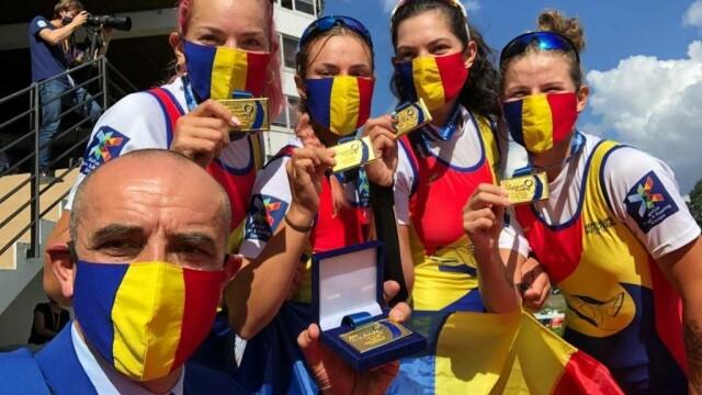 Zece medalii, dintre care cinci de aur, pentru România la Campionatul European de canotaj under 23 - Imaginea 1