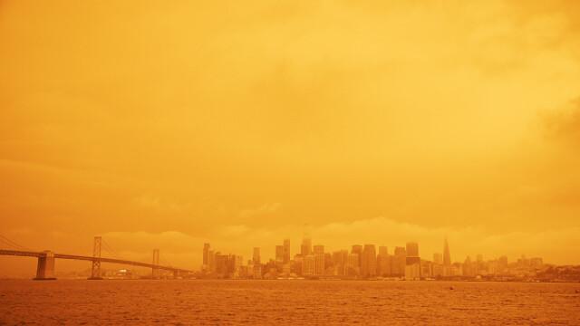 """""""Parcă m-am trezit pe Marte"""". Imagini post-apocaliptice cu cerul roșu din California - Imaginea 8"""