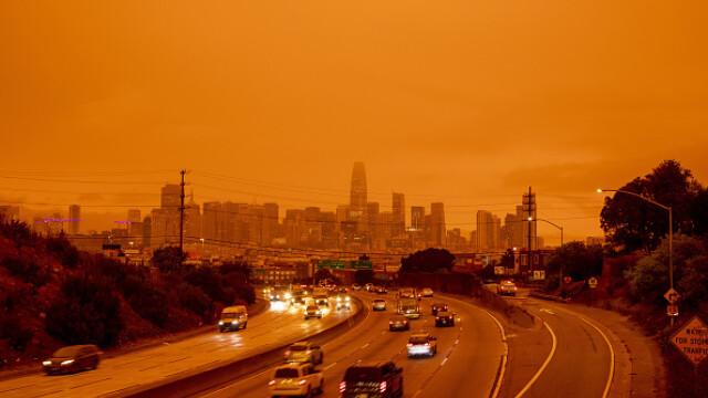 """""""Parcă m-am trezit pe Marte"""". Imagini post-apocaliptice cu cerul roșu din California - Imaginea 2"""