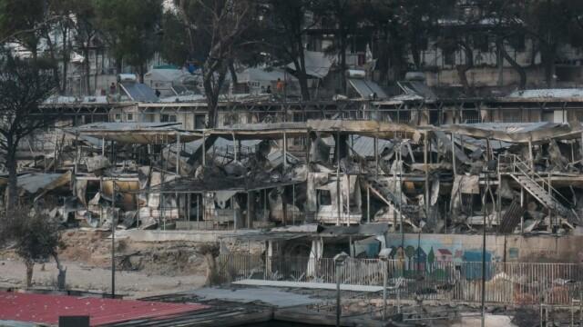 Nou incendiu în tabăra de refugiaţi Moria de pe insula grecească Lesbos - Imaginea 3