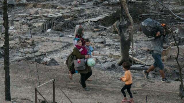 Nou incendiu în tabăra de refugiaţi Moria de pe insula grecească Lesbos - Imaginea 4