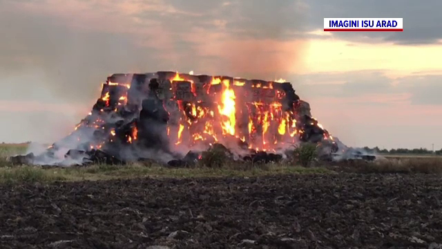 Un incendiu uriaș a creat panică la Arad. Ce s-a întâmplat