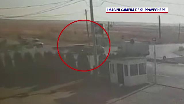 Accident într-o intersecție din Dâmbovița, filmat de camerele de supraveghere. VIDEO