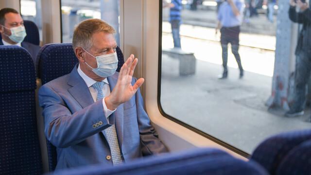 FOTO. Președintele și premierul României au testat trenul de la Gara de Nord la Otopeni - Imaginea 2