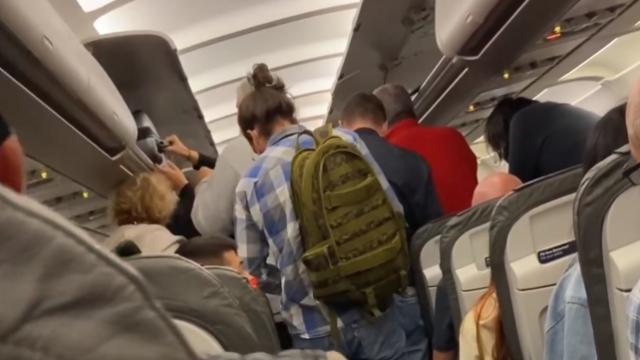 Imagini uimitoare într-un avion, pe ruta Frankfurt - Otopeni. \