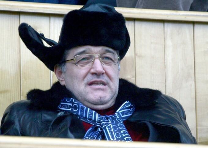 Gigi Becali la meciul FC Brasov - Steaua