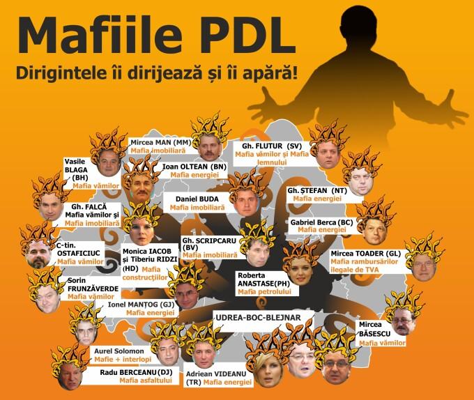 Harta mafiilor din PDL