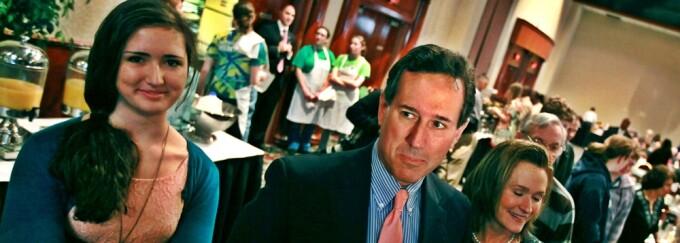 Rick Santorum si fiica sa