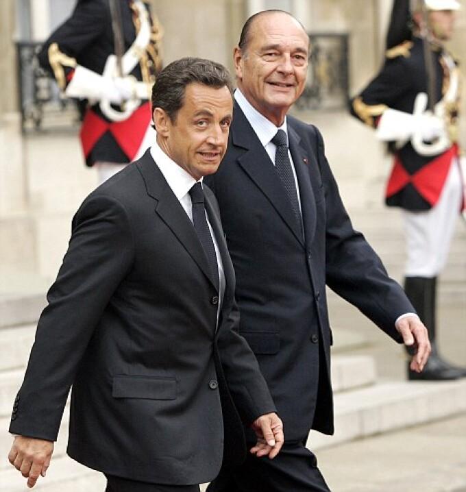 Nicolas Sarkozy si Jacques Chirac