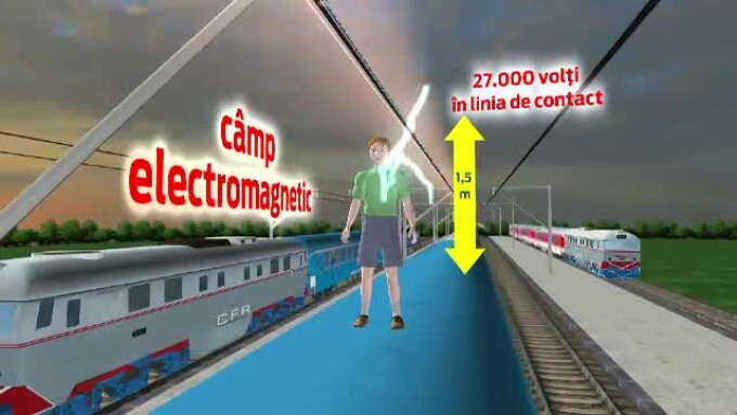 tren electrocutare