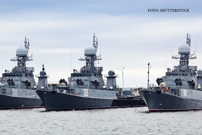 nave de razboi rusesti la Kronstadt