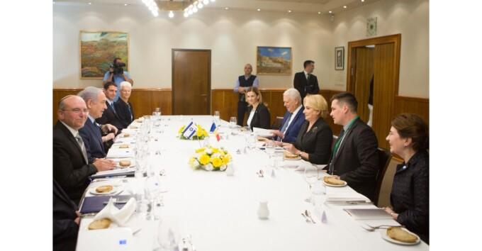 viorica dancila Benjamin Netanyahu