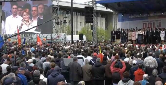 Acuzații PNL la adresa organizatorilor mitingului PSD de la Craiova