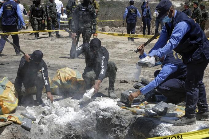 cocaină capturată de poliţia din Honduras