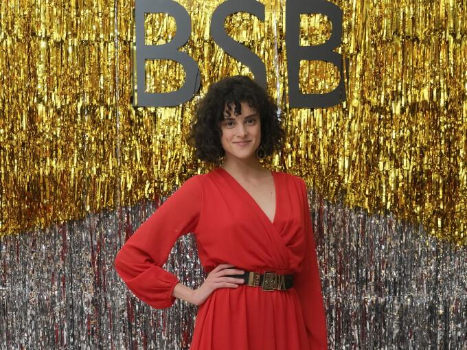 Diana Sar, din serialul VLAD, la prezentarea colecției BSB de primăvară-vară 2019