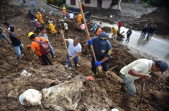 Alunecari de teren in Columbia
