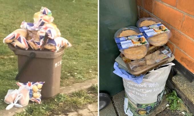 Și-au umplut frigiderele cu alimente, dar au expirat. Tone de mâncare aruncate la gunoi. IMAGINI revoltătoare