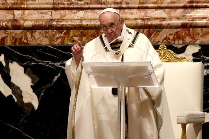 Papa Francisc, la Slujba de Înviere - 1