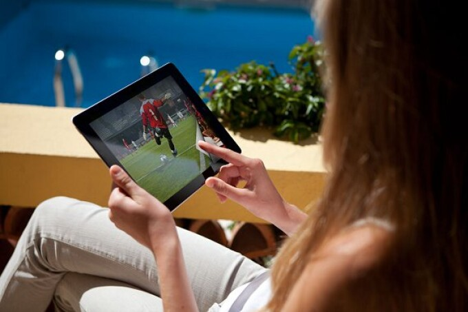 vizionare meci de fotbal pe tableta