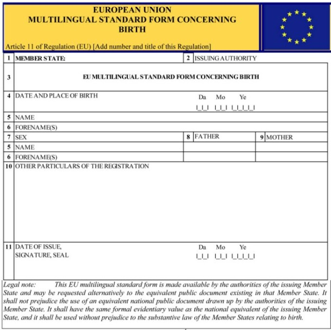 Certificat UE