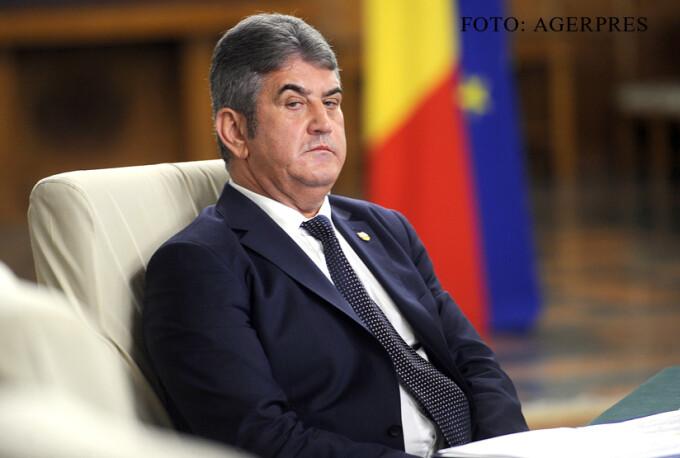 Vicepremierul Gabriel Oprea, ministrul Afacerilor Interne, participa la sedinta de Guvern FOTO AGERPRES