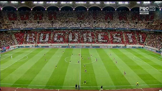 Coregrafie Steaua - Manchester City