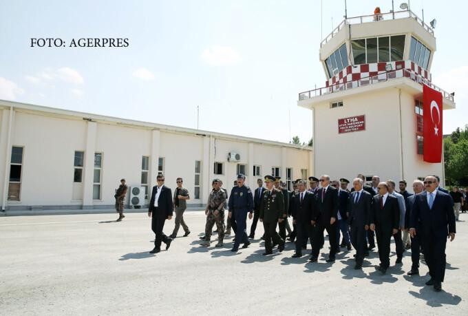 Erdogan in vizita la sediul central al politiei din Turcia