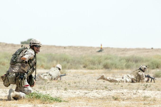 militari americani si irakieni la un exercitiu