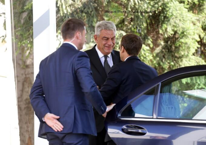 Mihai Tudose si Emmanuel Macron