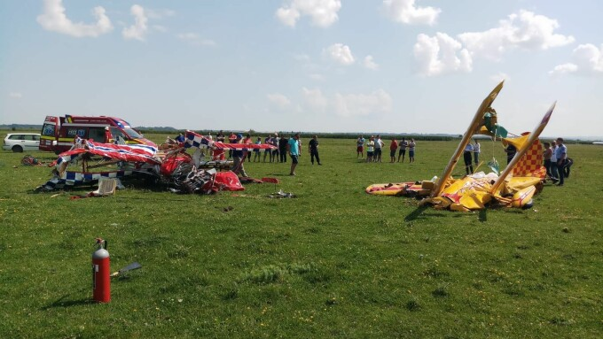 accident aviatic suceava
