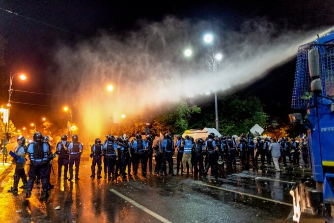 Prima zi de proteste a romanilor din diaspora fata de guvernul PSD, in Piata Victoriei, vineri, 10 august 2018. Protestatarii cer eliminarea politicienilor cu probleme penale și alegeri anticipate