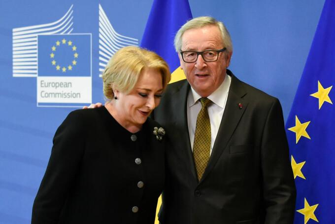 Jean Claude Juncker si Viorica Dancila