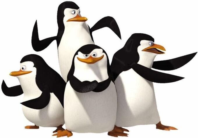 pinguinii din filmul Madagascar
