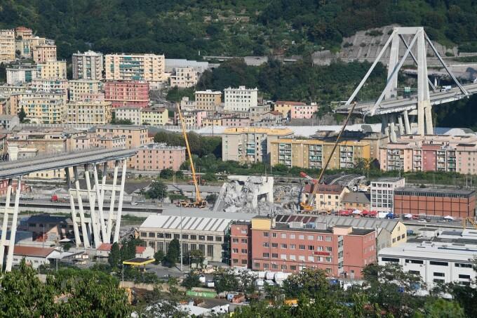 podul Morandi dupa dezastru