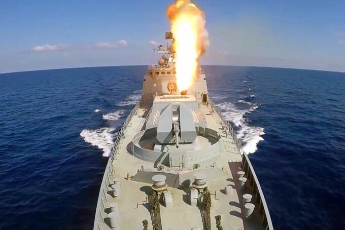 nave rusesti cu rachete Kalibr in Mediterana
