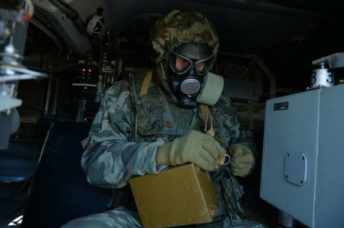 exercitiu militar de decontaminare in Rusia