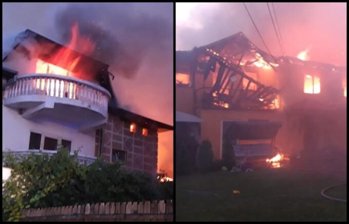 Incendiu devastator în Chitila. Pompierii intervin cu 14 autospeciale de stingere