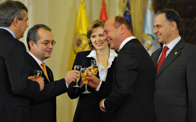 Emil Boc si Traian Basescu