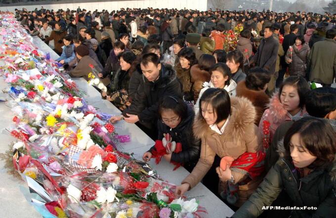 Coreea de Nord a organizat un miting urias pentru a marca doi ani de la moartea lui Kim Jong-il