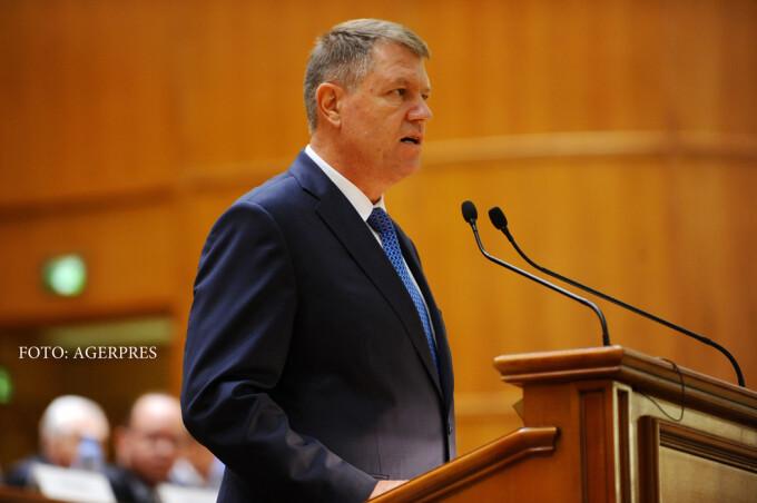 Klaus Iohannis in parlament