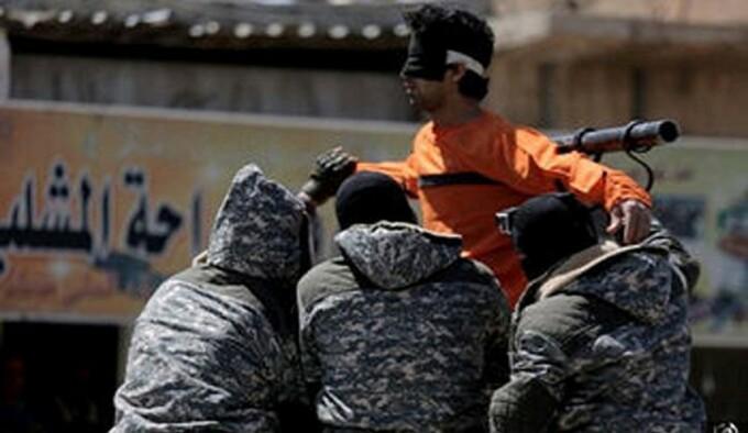 sirian crucificat de ISIS