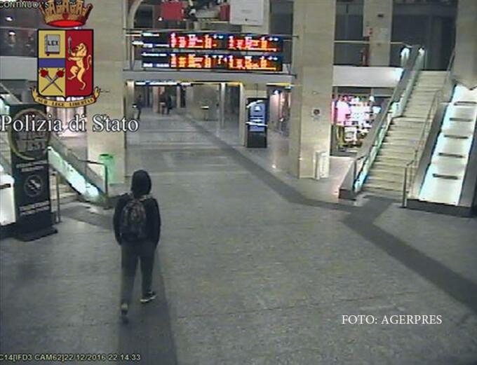 Anis Amri filmat la gara din Torino